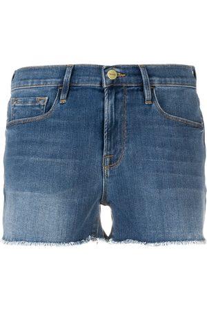 Frame Unfinished hem denim shorts