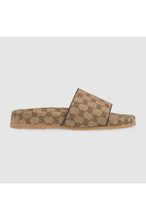Gucci Herren-Pantolette aus GG Canvas