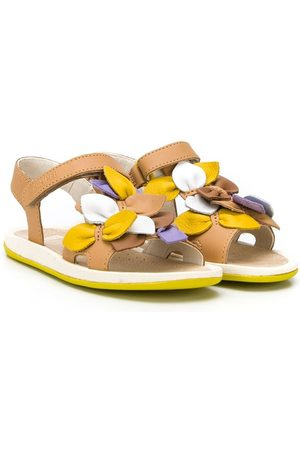Camper Kids Bicho floral applique sandals