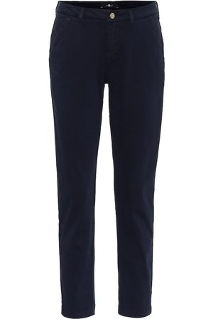 7 for all Mankind Mid-Rise-Hose aus Twill