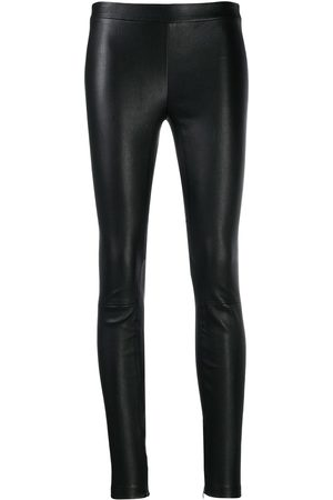 Vince Slim fit leather trousers