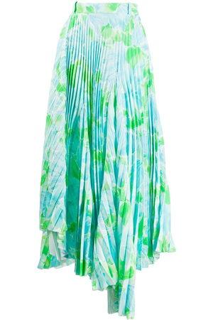 Balenciaga Damen Bedruckte Röcke - Dynasty floral-print pleated skirt