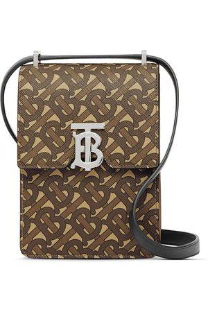 Burberry Monogram Print E-canvas Robin crossbody bag