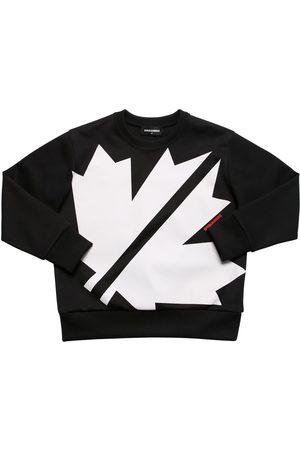 Dsquared2 Sweatshirt Aus Baumwollmischung Mit Druck