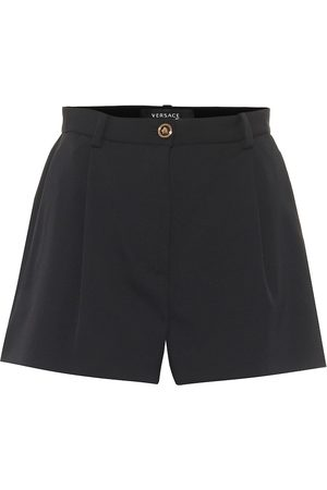 VERSACE High-Rise Shorts aus Wolle