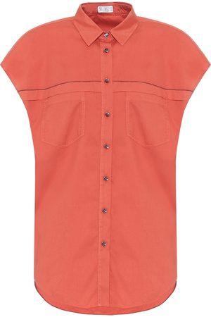 Brunello Cucinelli Exklusiv bei Mytheresa – Kurzärmliges Hemd aus Baumwolle
