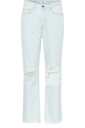 GRLFRND High-Rise Straight Jeans Mica