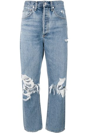 AGOLDE Distressed mom jeans