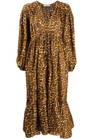 ZIMMERMANN Amelie leopard print maxi dress