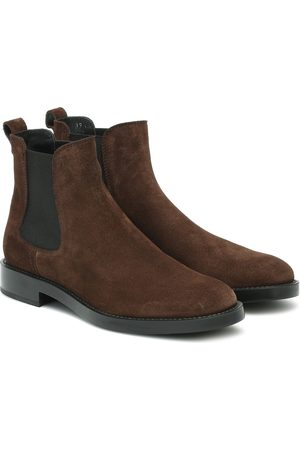 Tod's Damen Stiefeletten - Chelsea Boots aus Velousleder