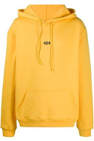 424 FAIRFAX Embroidered logo hooded sweatshirt