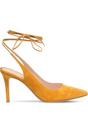 Gianvito Rossi Damen Schnürschuhe - 85mm Hohe Schnürpumps Aus Wildleder