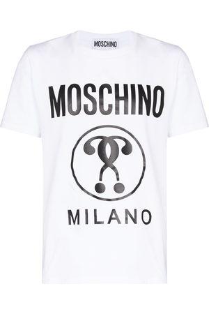 Moschino Double question mark logo-print T-shirt