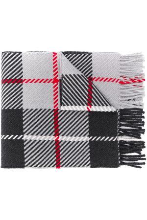 MACKINTOSH Fringed tartan scarf