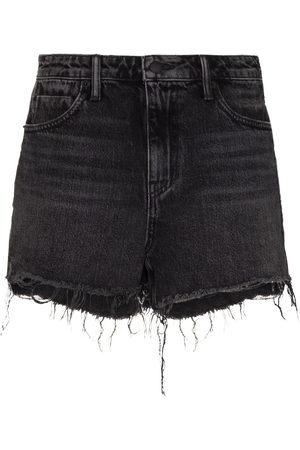 Alexander Wang Raw-hem denim shorts
