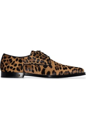 Dolce & Gabbana Millenials leopard print pony hair shoes