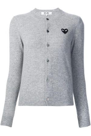 Comme Des Garçons Play Damen Strickjacken - Heart logo cardigan