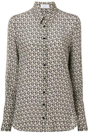 Salvatore Ferragamo Spotted blouse