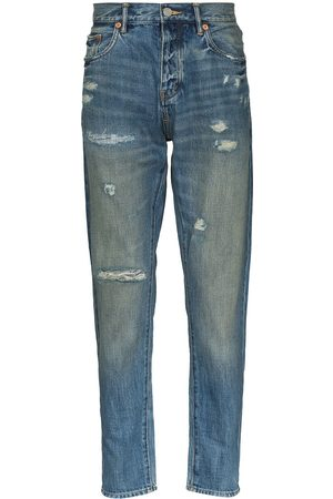 Purple Brand Distressed straight-leg jeans