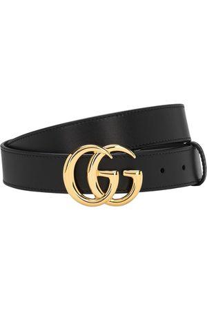 "Gucci 3cm Breiter Ledergürtel ""gg"""