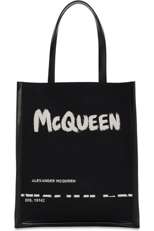 Alexander McQueen Herren Shopper - Logo Jacquard Canvas & Leather Tote Bag