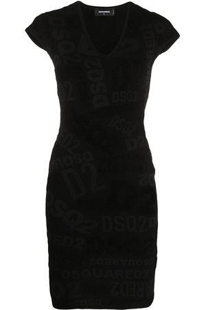 Dsquared2 Chenille logo print dress
