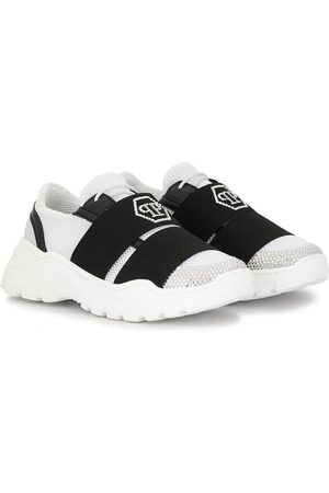 Philipp Plein Mädchen Sneakers - Embellished logo strapped sneakers