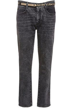 Stella McCartney Enge Boyfriend-jeans Aus Eco-denim Mit Gürtel