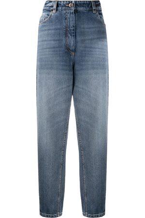 Brunello Cucinelli Damen Baggy & Boyfriend - High rise mom-fit jeans