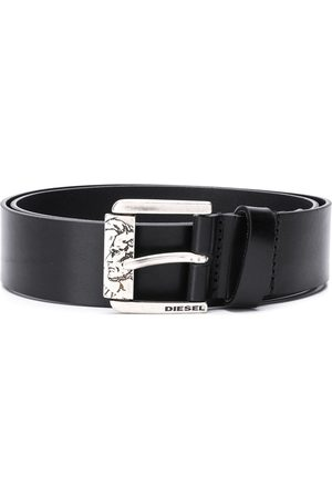 Diesel Sculpted buckle calf leather belt