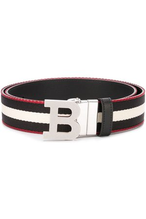 Bally Herren Gürtel - Striped logo-buckle belt