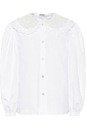Miu Miu Bluse aus Baumwoll-Popeline