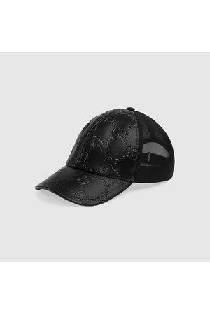 Gucci Herren Caps - Baseballkappe aus geprägtem GG Leder