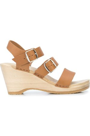 No.6 Caged wedge sandals