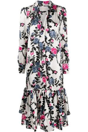 La DoubleJ Damen Freizeitkleider - Pussy bow blouse floral dress