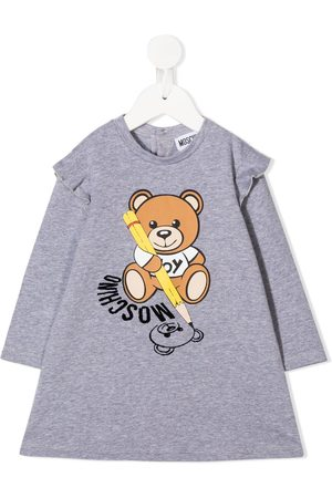 Moschino Teddy Bear print sweatshirt dress