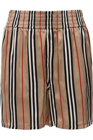 Burberry Damen Shorts - Shorts Aus Seidentwill Mit Karos