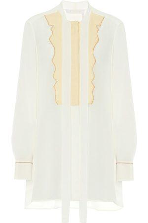 Chloé Damen Lange Ärmel - Bluse aus Seiden-Crêpe