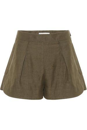 Chloé Shorts aus Leinen und Baumwolle