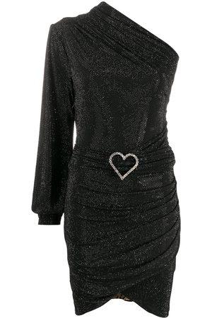 Philipp Plein Damen Asymmetrische Kleider - One-shoulder crystal-heart dress