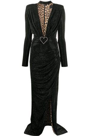 Philipp Plein Damen Asymmetrische Kleider - Aphrodite stud embellished asymmetric dress