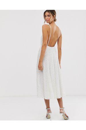 ASOS Eva embellished cami midi wedding dress