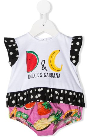 Dolce & Gabbana Fruit-print short-sleeved romper
