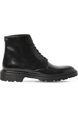 Saint Laurent 30mm Hohe Stiefel Aus Poliertem Leder