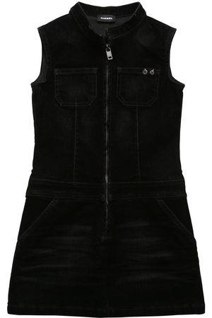 Diesel Jeanskleid Mit Samteffekt