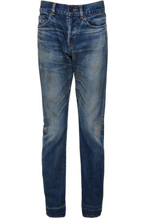 Saint Laurent Herren Skinny - 17cm Enge Jeans Aus Baumwolldenim