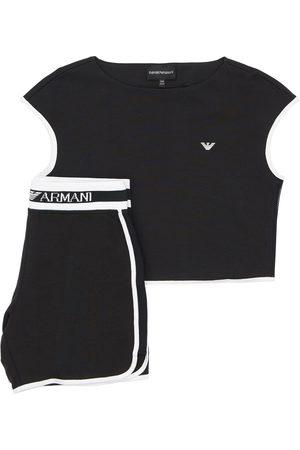 Emporio Armani T-shirt Und Trainingsshorts Aus Baumwolle