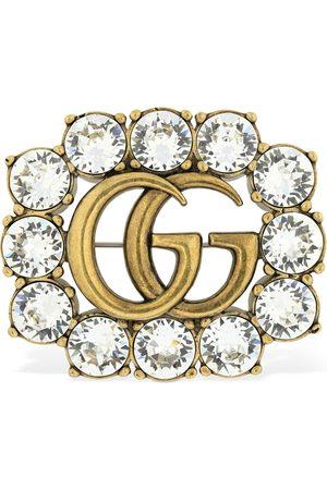 """Gucci Damen Broschen - Kristallbrosche """"gg Marmont"""""""