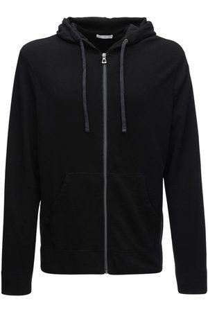 James Perse Herren Sweatshirts - Hoodie Aus Baumwollfleece Mit Zipper