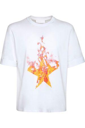 Neil Barrett Herren Shirts - T-shirt Aus Baumwolljersey Mit Druck